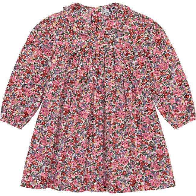 Ginny Peter Pan Collar Dress, Multi Floral
