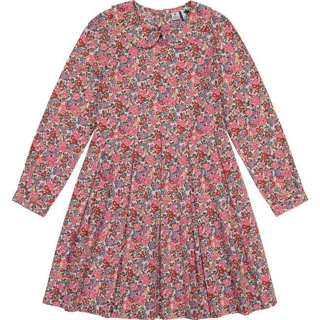 Harriet Peter Pan Collar Dress, Multi Floral