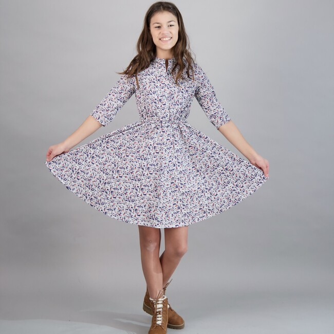 Gabriela Tween Circle Skirt Dress, Abstract Floral