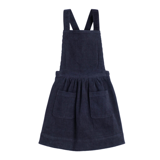 Millie Pinafore Dress, Navy Cord