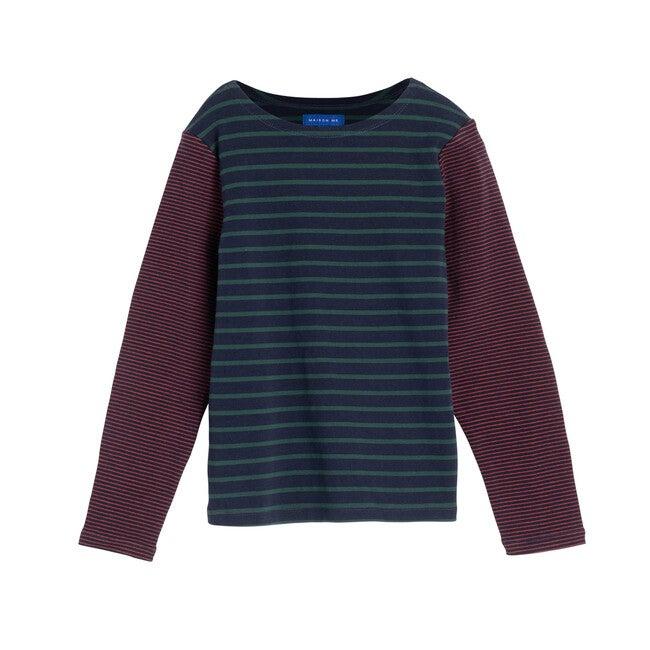 Sloane Mixed Stripe LS Shirt, Navy Multi