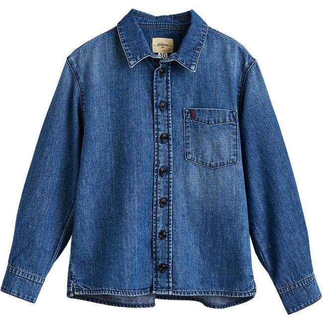 Gulian Denim Shirt, Blue - Shirts - 1