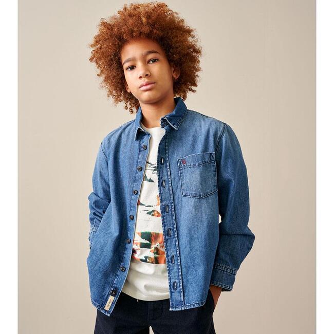 Gulian Denim Shirt, Blue