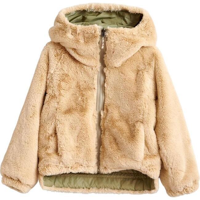 Habitat Faux Fur Reversible Jacket, Tan/Green - Jackets - 1