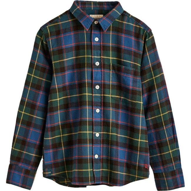 Gaspar Shirt, Green Plaid