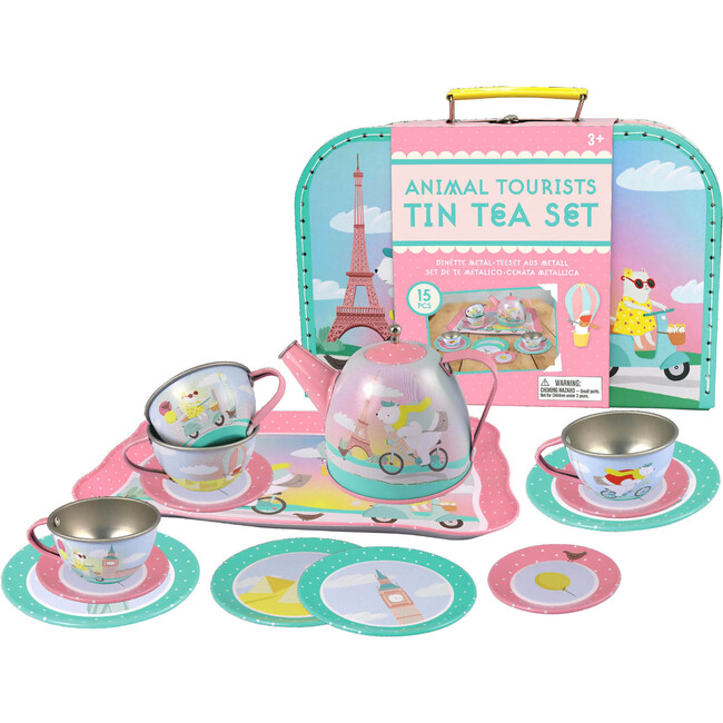 Animal Tourists Tin Tea Set