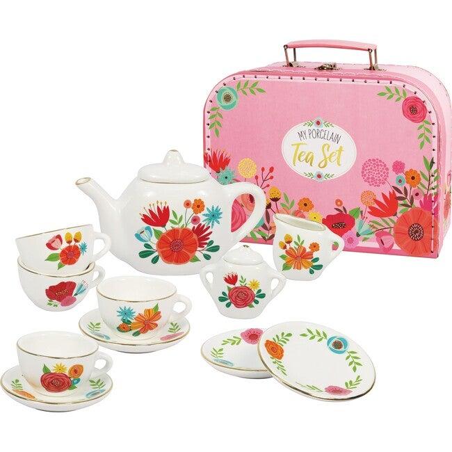 Porcelain Tea Set, Carry Case - Play Food - 1