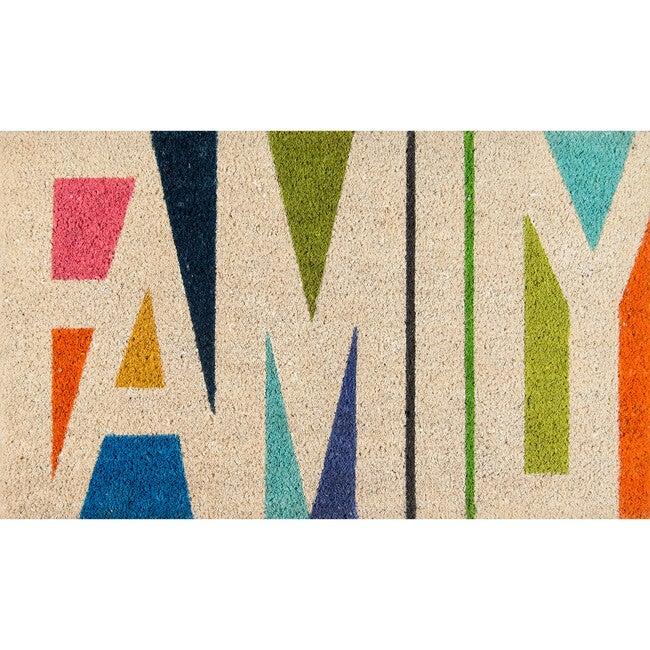 Aloha Family Handwoven Coir Floormat, Multi