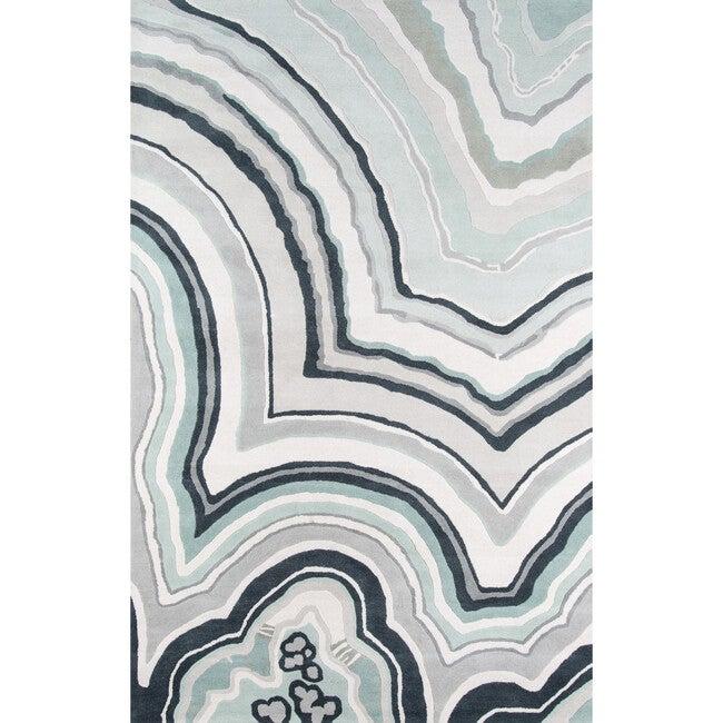 Delmar Agate Hand-Tufted Wool Rug, Blue