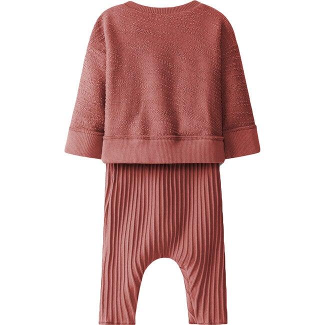 Knit Set, Red