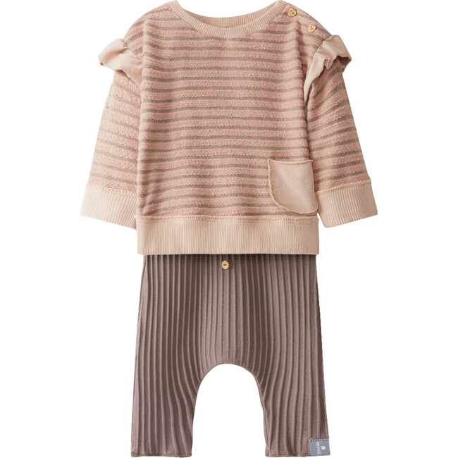 Knit Set, Pink and Brown