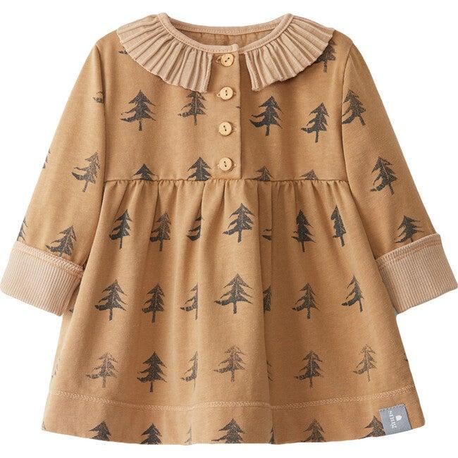 Tree Printed Dress, Brown