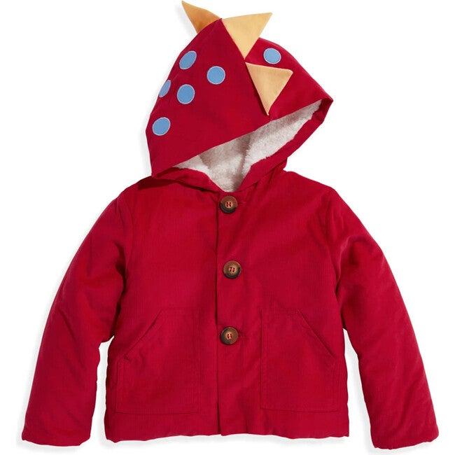 Corduroy Dinosaur Coat, Red