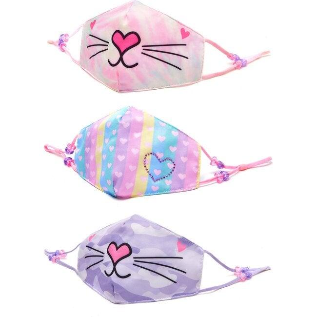 Miss Bella Heart Print 3 Pack Face Mask Set