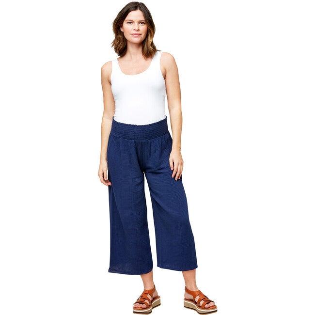 Women's Elliott Cotton Gauze Pant, Navy