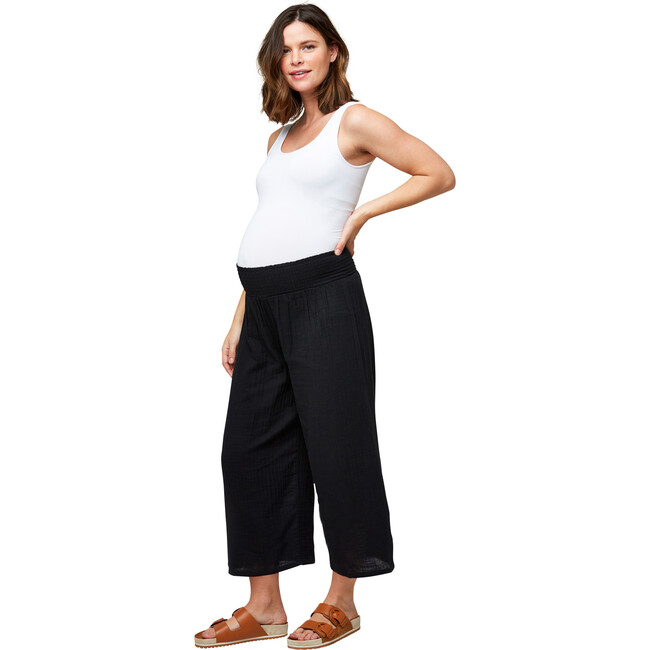 Women's Elliott Cotton Gauze Pant, Black - Pants - 1