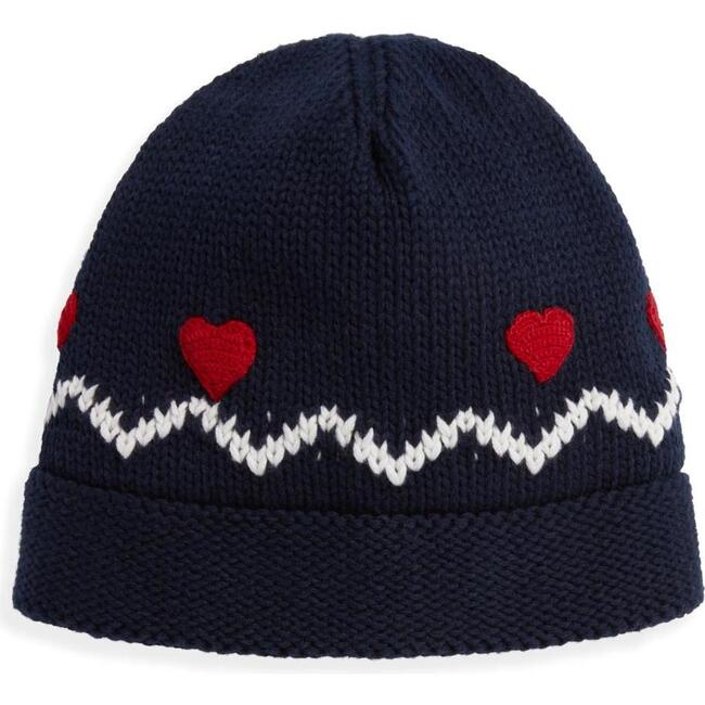 Applique Nordic Hat, Navy