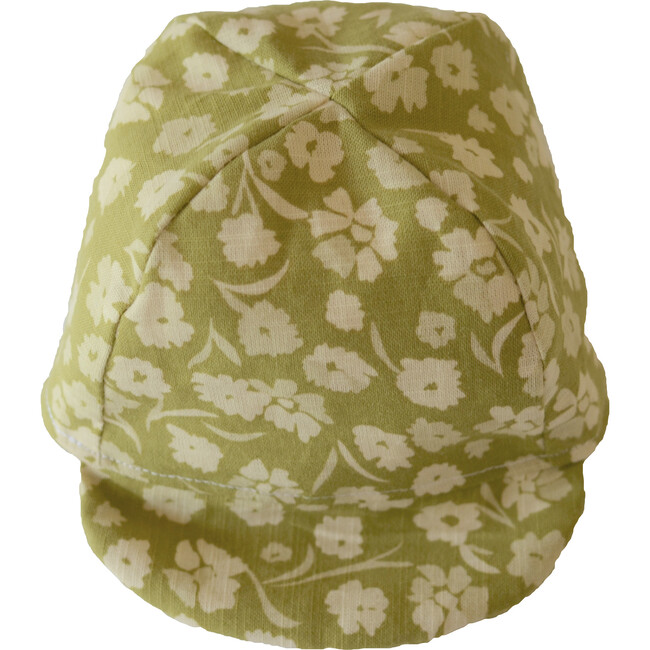 Cap, Florals on Olive