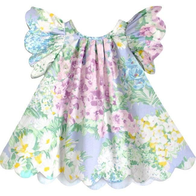 2y Scallop Petal Dress, Impressionist Garden