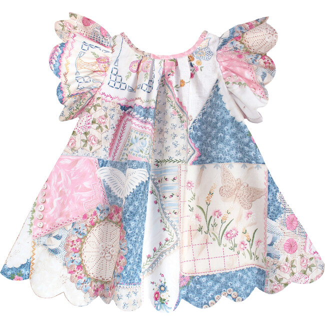 Scallop Petal Dress, Patchwork