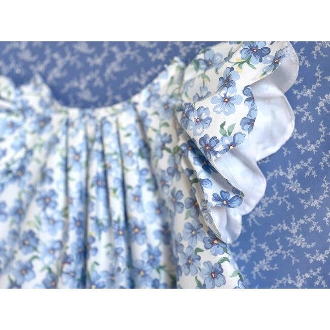 3y Scallop Petal Dress, Blue Violet