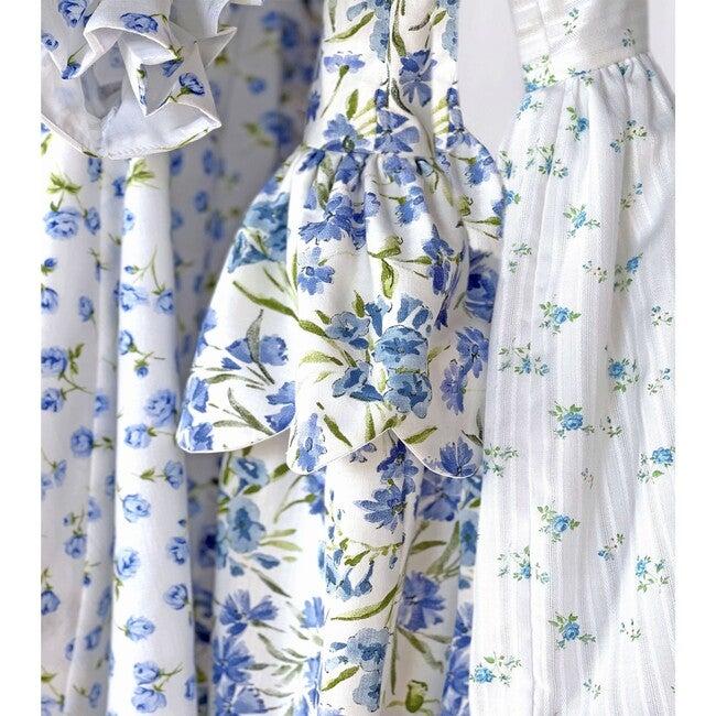 Scallop Peplum Petal Dress, Bluebells