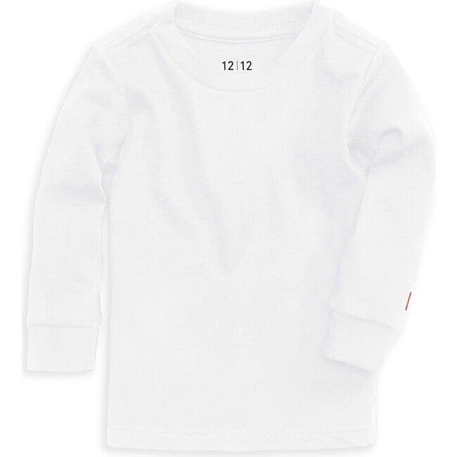Organic Long Sleeve Crew Tee, White