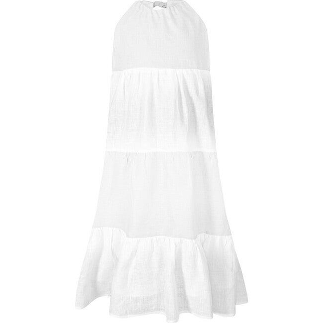 Halter Dress, White