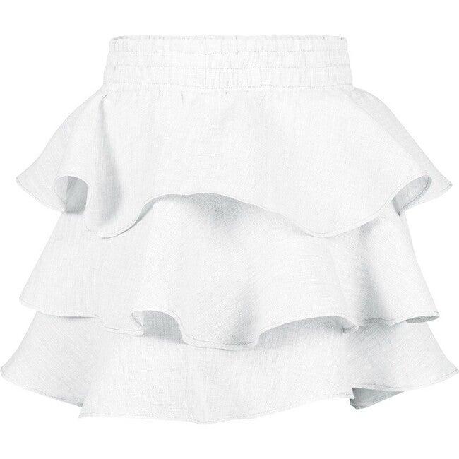 Anette Ruffled Skirt, White