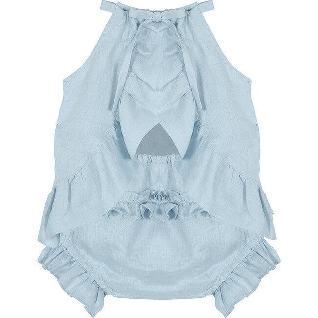 Georgette Dress, Baby Blue