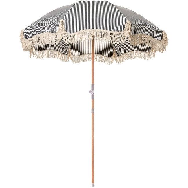Premium Beach Umbrella, Lauren's Navy Stripe