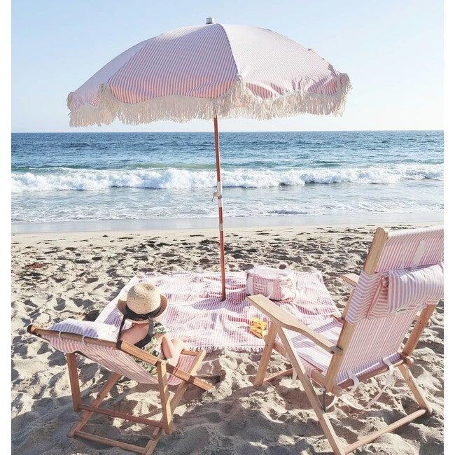Premium Beach Umbrella, Lauren's Pink Stripe