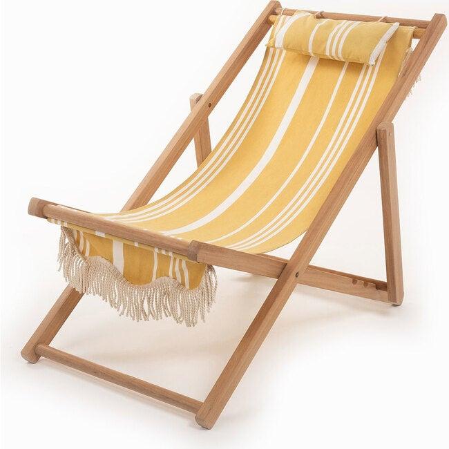 Premium Sling Chair, Vintage Yellow Stripe