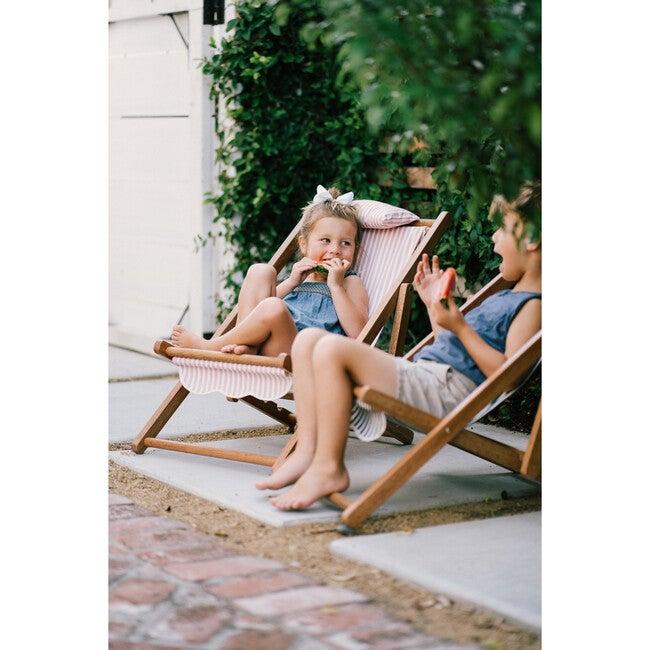 Mini Sling Chair, Lauren's Pink Stripe