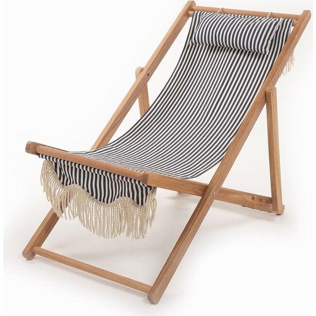 Premium Sling Chair, Lauren's Navy Stripe