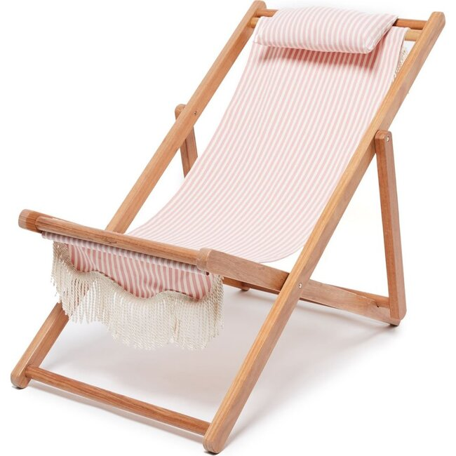 Premium Sling Chair, Lauren's Pink Stripe