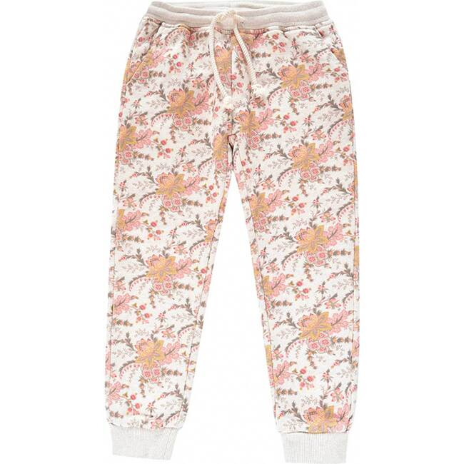 Emmanuelle Joggers, Cream French Floral
