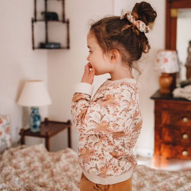 Kyra Sweatshirt, Cream French Floral
