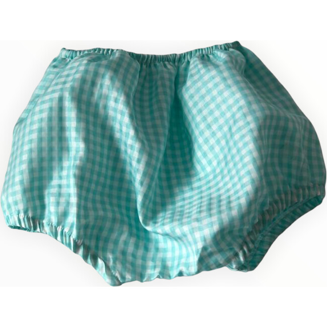Gingham Bloomer, Turquoise