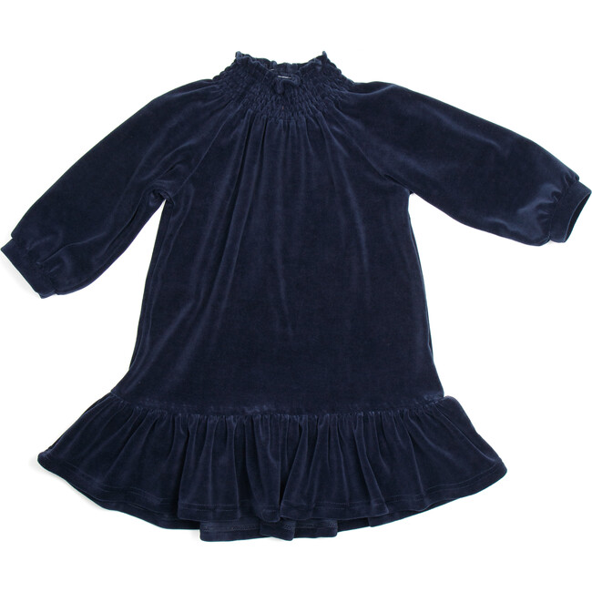 Nova Velour Dress, Navy