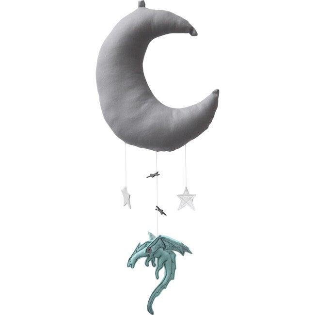 LUXE Dragon Moon Mobile, Aqua & Silver