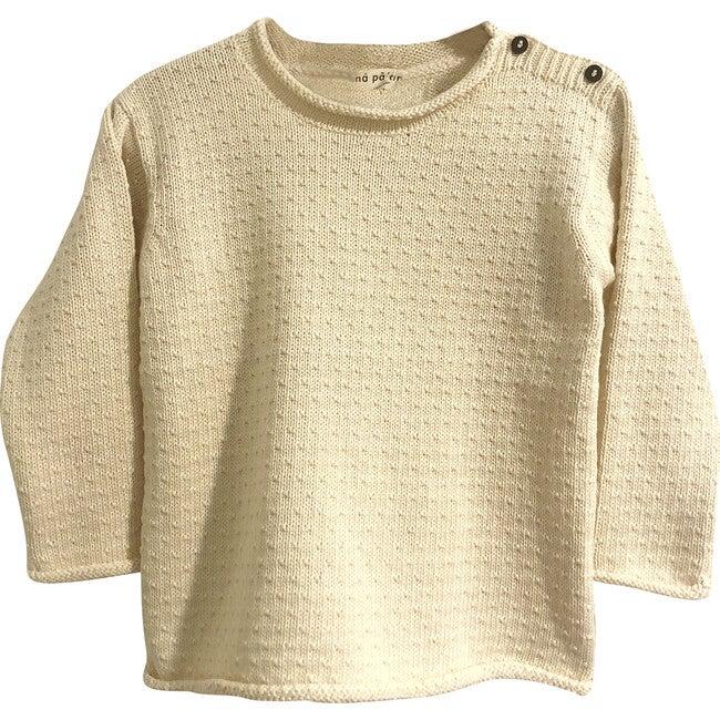 Mario Knit Pullover, Cotton Natural