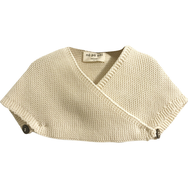 Lucia Knit Cape, Cotton Cream - Jackets - 1