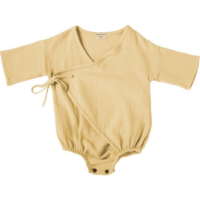 Mateo Baby Romper, Gauze Straw