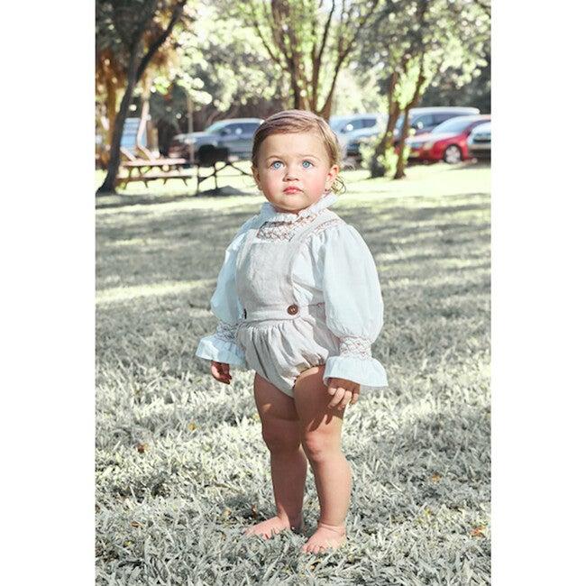 Alex Baby Romper, Linen Natural