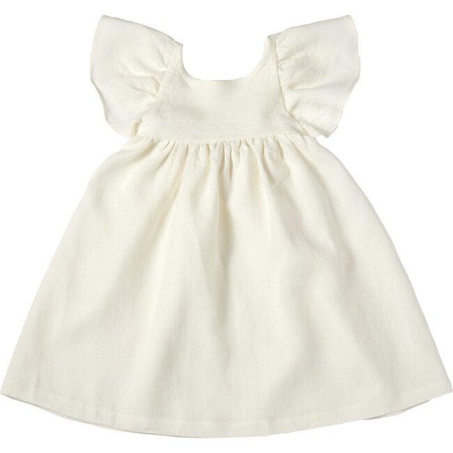 Penelope Dress, Linen White - Dresses - 1