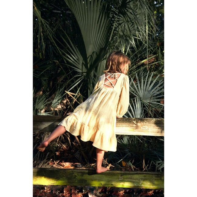 Cristina Dress, Gauze Straw