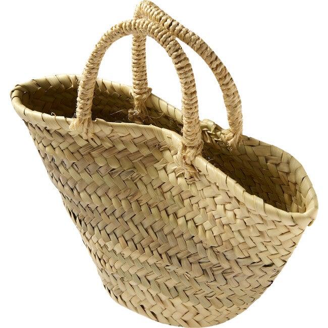 Beach Basket, Natural Palm Leaf