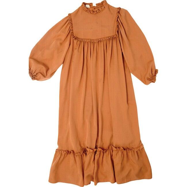 Adriana Dress, Rust Tencel