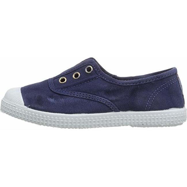 Distressed Canvas Slip On, Washed Navy